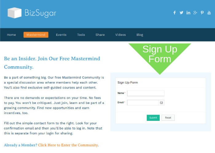 How to Join BizSugar Mastermind Community