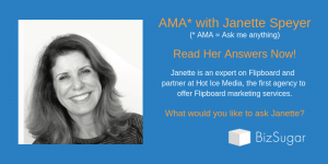 AMA with Janette Speyer about Flipboard in the BizSugar Mastermind Community