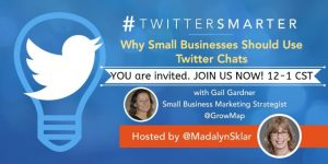 JOIN US NOW TwitterSmarter Twiter Chat Mar 27 2019 guest Gail Gardner7