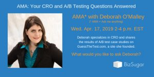 CRO and AB Testing Deborah O Malley