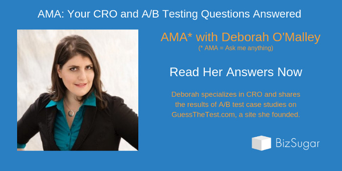 CRO and AB Testing Deborah O Malley Answers