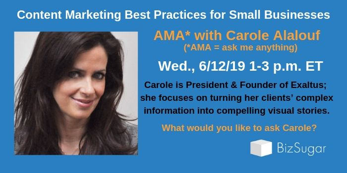 Content Marekting Best Practices for Small Business: AMA with Carole Alalouf