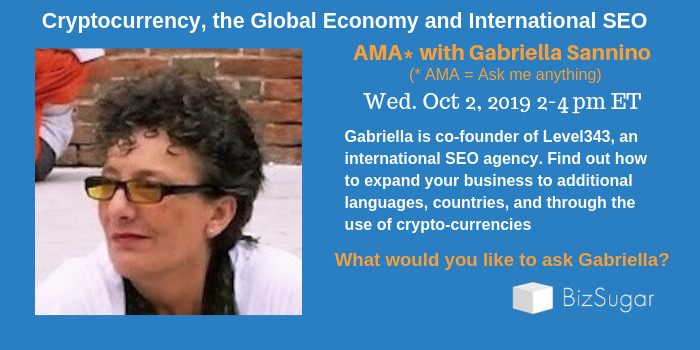 Cyptocurrency, the Global Economy and International SEO Gabriella Sannino Level343