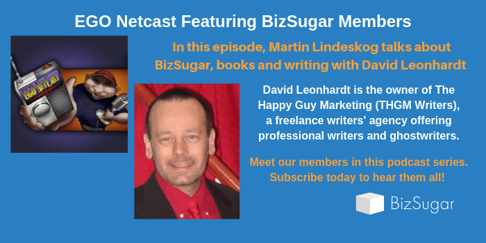 Ego NetCast BizSugar Members David Leonhardt