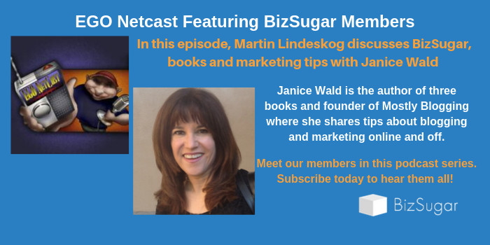 Ego NetCast BizSugar Members Janice Wald
