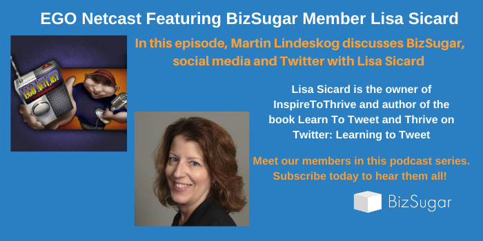 Member Spotlight: Lisa Sicard of Inspire to Thrive on EGO NetCast Podcast