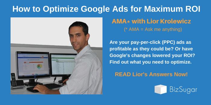 AMA Lior Krolewicz How to Optimize Google Ads for Maximum ROI
