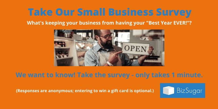 Take Our BizSugar Small Business Survey