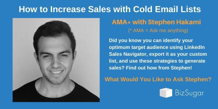 How to Increase Sales with Cold Email Lists AMA Stephen Hakami