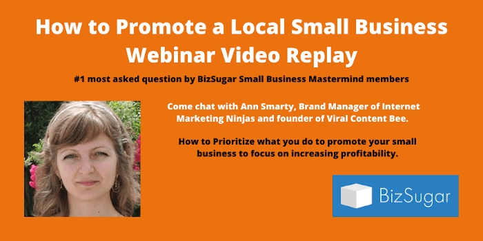 How to Promote a Local Small Business Webinar