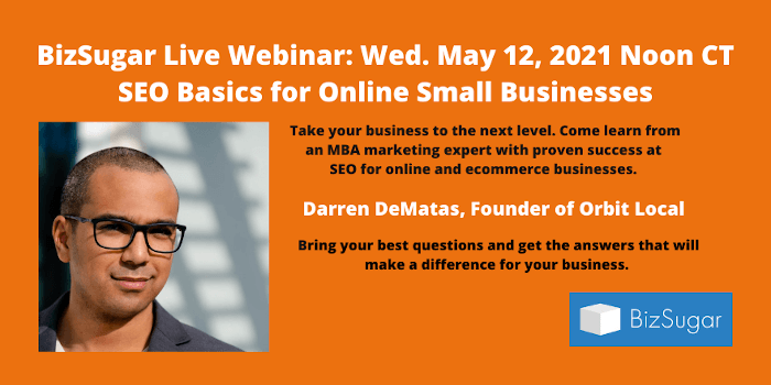 SEO Basics for Online Small Businesses with Darren DeMatas of Orbit Local