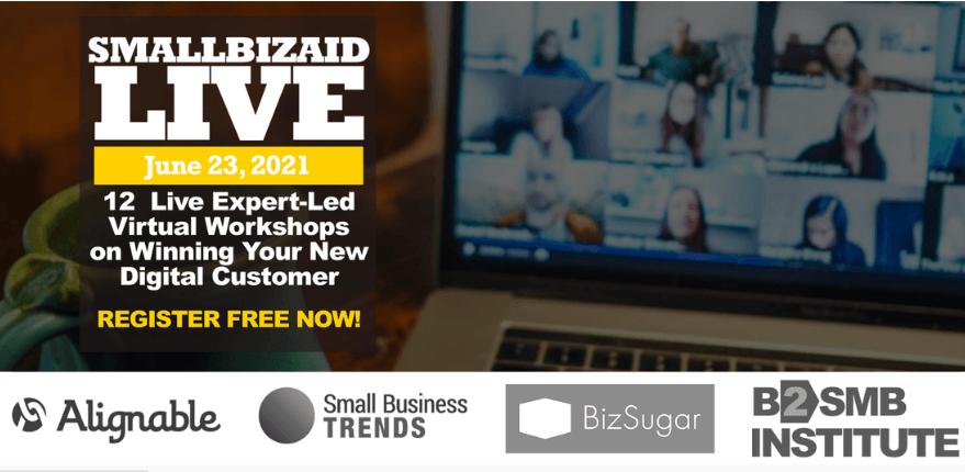 SmallBizAid Live Virtual Events