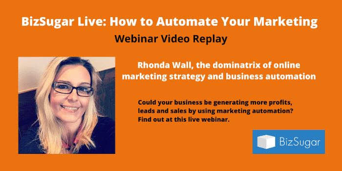 How to Automate Your Marketing with Rhonda Wall Video Replay